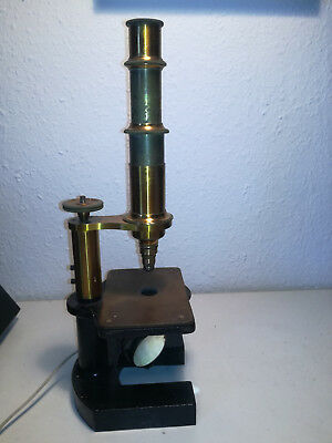 Antikes Mikroskop P. Thate Berlin, ca. 1880, antique microscope Medizin Optiker