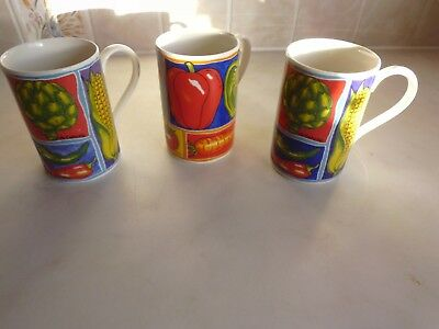 Dunoon pottery Mugs x 3 Legumes