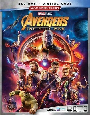 Avengers Infinity War Blu Ray + Digital Code Brand New