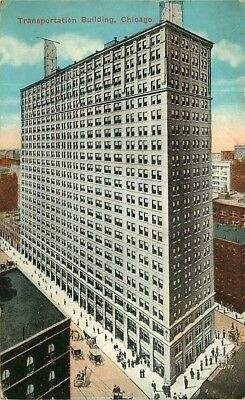 Postcard Transportation Building, Chicago, Illinois - used in 1916