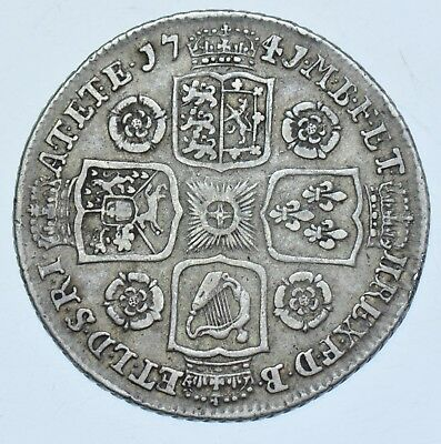 Extremely Rare 1741/39 Shilling, 41 Over 39, British Silver Coin George Ii [R5]