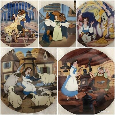 Disney Decorative Plates Beauty And The Beast Bradford Exchange