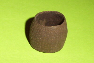 Genuine MEDIEVAL OPEN TOPPED BEEHIVE THIMBLE artifact antiquity rare antique G
