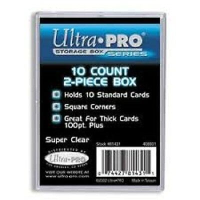 Lot of 2 Ultra Pro 10 count 2 Piece Clear Card Storage Box Boxes New