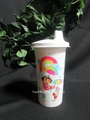 Tupperware New Dora the Explorer & Boots Bell Tumbler w White Domed Sippy Seal