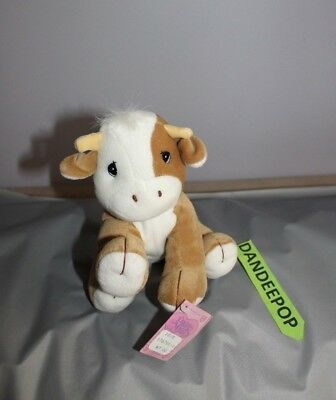 Enesco Tender Tails Cow Stuffed Animal 475890 With Tag