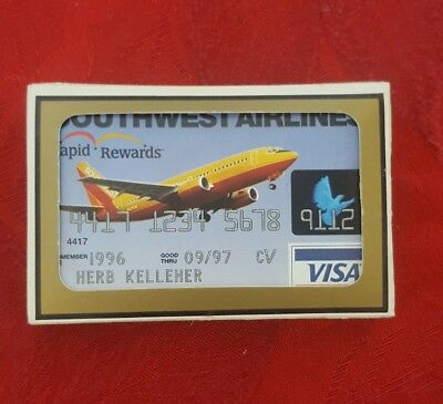 southwest airlines 1996 playing cards