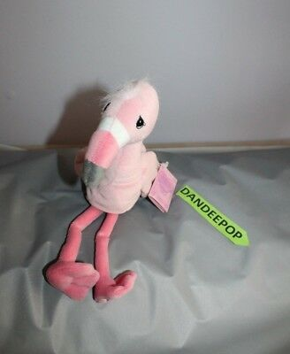 Enesco Tender Tails Flamingo Stuffed Animal With Tag