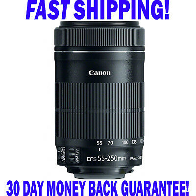 Canon EF-S 55-250mm f/4-5.6 IS STM Lens * FAST N' FREE POST * UK *