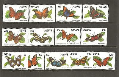1991 NEVIS ISLAND BUTTERFLIES 13 out of 15 umm stamps