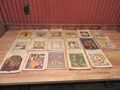 Lot of 100 Antique Needlecraft Sewing Embroidery Craft Magazines 1917 - 1933