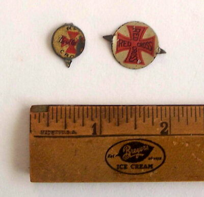 TOBACCO TAG TAGS Vintage 2 RED CROSS, Tin litho