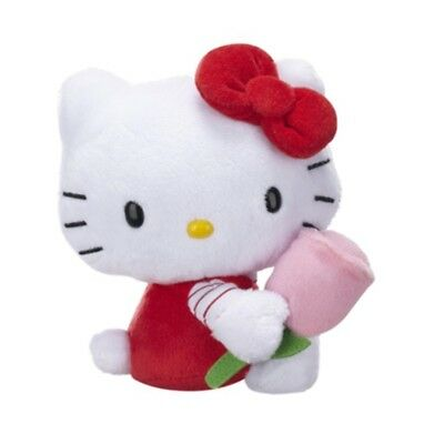 "NEW 6"" Plush Spring Flowers Hello Kitty with Pink Tulip"