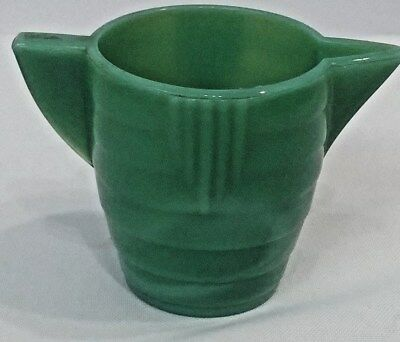Akro Agate Small Stacked Disc Child's Green Water Pitcher Green