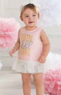 54fc5ccd NWT Mud Pie Total Baby Doll Infant Girls Dress Bloomer Set Size 6-9 Months