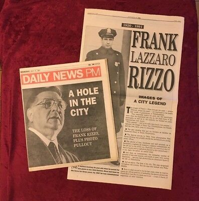 Frank Rizzo Philadelphia Daily News PM Newspaper July 17, 1991 Death & Tribute