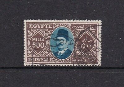 EGYPT 1927 KING FUAD 500m DEFINITIVE FINE USED
