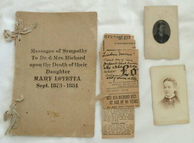Antique Mourning Sympathy Messages Letters Photographs 1800s Lutheran Church