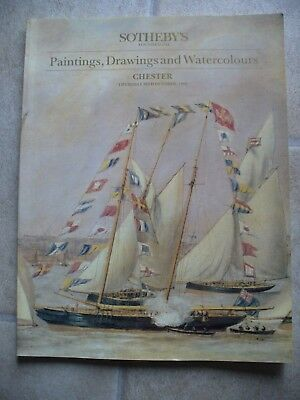 SOTHEBY'S Paintings Drawings Watercolours CHESTER auction catalogue 20/10/1988