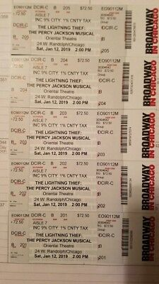 Percy Jackson Theatre Tickets (January 12, 2019) 2pm Oriental Theater....