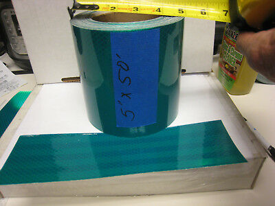 """5"""" x 50 FEET HUNTER GREEN   REFLECTIVE CONSPICUITY TAPE  lines"""