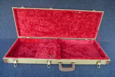Tweed Hard Shell Guitar Case Fits Ibanez Rg Series Rg421 And Others