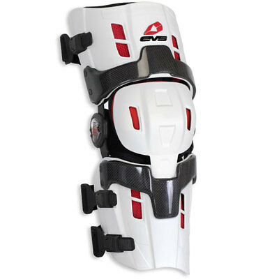 EVS RS-8 Pro MX Offroad Knee Brace White Individual SM Right