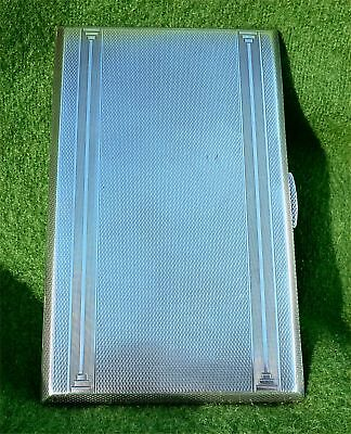 TALL, SLIM & WEIGHTY SILVER CIGARETTE / CARD CASE - BIRMINGHAM 1947 - 6.71 ozt