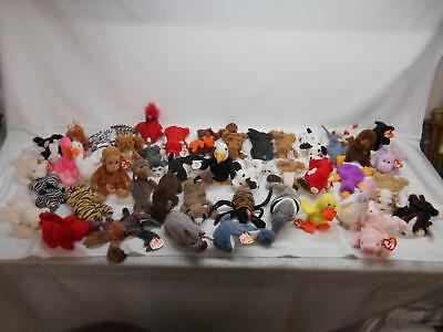 LOT 45 TY BEANIE BABIES COLLECTION Plush Stuffed Animals Toys ONE CENT BID NR