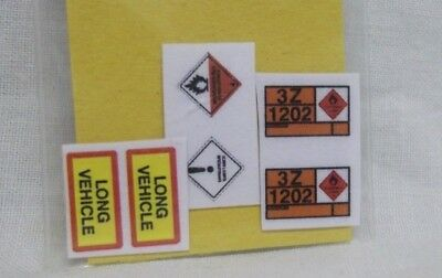 Hazard and Long Vehicle signs  sticker (A)