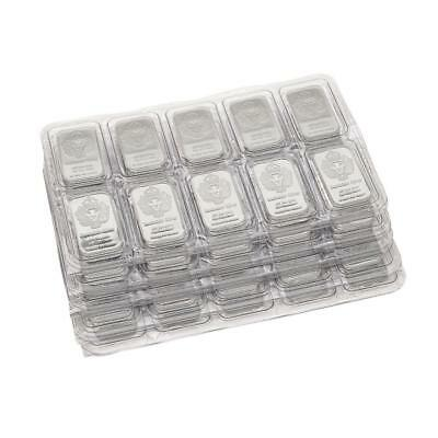 100 x 1 oz Silver Bars by Scottsdale Silver .999 Pure 100 Troy Oz Total #A256