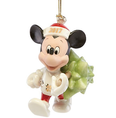 Lenox 2017 Disney's Mickey Mouse Trimming the Tree Ornament