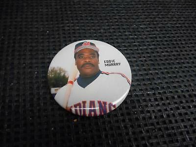 Old Vtg EDDIE MURRAY Cleveland Indians PINBACK Button MLB Badge Souvenir