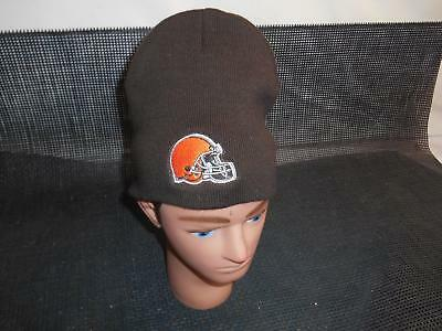 CLEVELAND BROWNS Brown SKULL CAP Hat NFL Football Advertising Souvenir Apparel