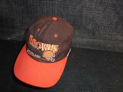 Old Vtg CLEVELAND BROWNS Men's HAT Truckers Cap Snapback NFL Advertising