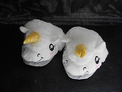 UNICORN HORN FUFFY SLIPPERS Backless Mystical Horse Unisex Fashion  NWT