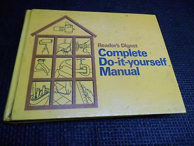 Old Vtg 1973 READER'S DIGEST COMPLETE DO-IT-YOURSELF Manual Guide Book 600 pages