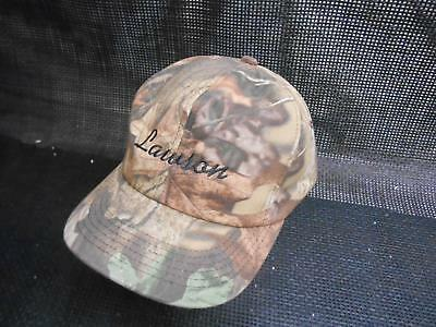 Old Vtg LAWSON CAMO Men's HAT Truckers Cap Foam Snapback Advertising