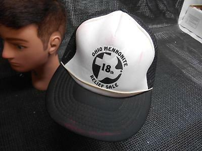 Old Vtg MENNONITE 18th RELIEF SALE Men's HAT Truckers Cap Foam Snapback
