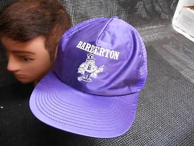 Old Vtg BARBERTON Men's HAT Truckers Cap Foam Snapback Advertising