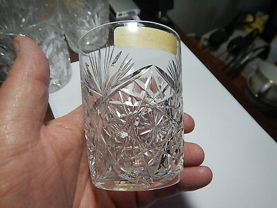 American Brilliant Cut Glass tumbler beautiful pattern estate collection
