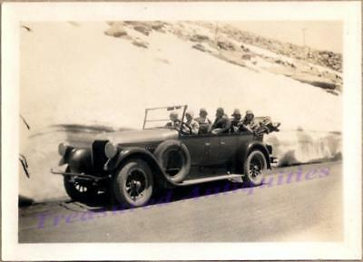 1920 Women Driving 1922-1926 Pierce Arrow Touring Car Colorado Mountains Photo