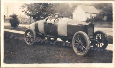 1922 Teen Boys Young Men Drive Runabout Speedster Torpedo Shaped Racer Car Photo