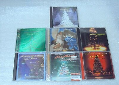 Mannheim Steamroller 7 CHRISTMAS CD COLLECTION ~ GREAT CONDITION & FREE SHIPPING
