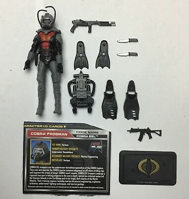 GI JOE COBRA 50th TRU EXCLUSIVE FROGMAN EELS EEL  ARMY BUILDER