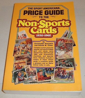 1991 Book The Sport Americana Price Guide Non-Sports Cards 1930-1960 by Eckes