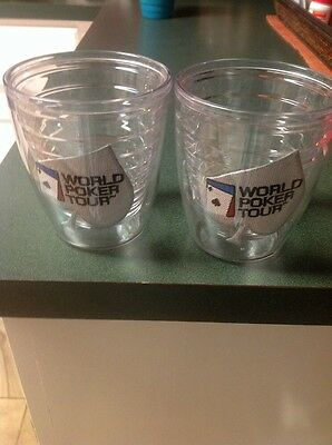 Two Tervis World Poker Tour Small Tumblers