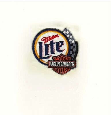 Rare Harley Davidson Miller Lite Beer Patch.MINT  FAST same day SHIPPING !