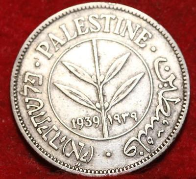 1939 Palestine 50 Mils Silver Foreign Coin