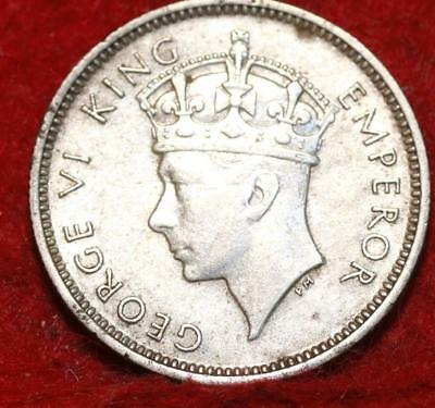 1937 Fiji 6 Pence Silver Foreign Coin